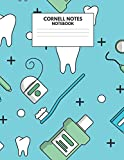Cornell Notes Notebook: Cute Teeth Dentistry Lined Journal - Cornell Template Note taking Study Method for Medical Students - Nurse, Dental Assistant, ... Coding - 126 pages - Large (8.5 x 11 inches)