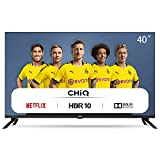CHiQ Televisor Smart TV LED 40 Pulgadas FHD, HDR, WiFi, Bluetooth, Youtube, Netflix, Prime Video, 3 x HDMI, 2 x USB - L40H7N