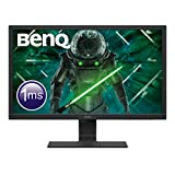 BenQ GL2480 - Monitor Gaming de 24' FullHD (1920x1080, 1ms, 75Hz, HDMI, DVI-D, VGA, Eye-Care, Flicker-free, Low Blue Light, Sensor Brillo Inteligente, antireflejos) - Color Negro
