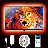 Tiras LED, Govee Tira LED TV USB 2M, 16 Millones DIY Colores y 7 Modo Escenas con App Control, Retroiluminacion Luces LED TV RGB para 40-60in HDTV, PC Monitor, Habitación, 4 x 50cm, 5V
