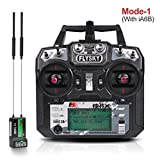 Flysky FS-i6X Transmisor (10CH, 2.4GHz, AFHDS 2A) RC Transmitter con Flysky iA6B Receptor for FPV Racing RC Drone Quadcopter by LITEBEE (Mode-1 Right Hand Throttle)