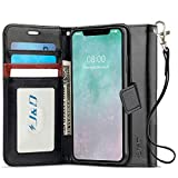 J&D Compatible para Apple iPhone 11 Funda, [Bloqueo de RFID] [Soporte Plegable] Funda Pesada Resistentes Billetera para iPhone 11 Funda Cuero - [NO para iPhone 11 Pro/iPhone 11 Pro MAX] - Negro
