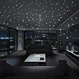 JiaMeng Glow In The Dark Star Pegatinas de Pared Dots and Moon Starry Sky Decoración de la habitación para niños