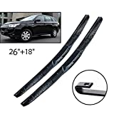 Wiper Front Wiper Blades  ,For Mitsubishi Outlander 2012-2019 2018 2017 2016 Windshield Windscreen Front Window 26'+18'