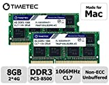 Timetec Hynix IC 8GB Kit (2x4GB) Apple DDR3 PC3-8500 1066MHz Memory Upgrade For iMac 20 Inch /21.5 inch/24 Inch /27 Inch, MacBook Pro 13 Inch/ 15 Inch/ 17 Inch, Mac Mini 2009 2010 (8GB Kit (2x4GB))