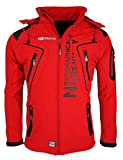 Geographical Norway Tambour - Chaqueta Softshell para Hombre, Hombre, Color Rojo, tamaño Small