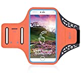 DFV mobile - Professional Cover Ultra-Thin Armband Sport Walking Running Fitness Cycling Gym for Huawei P9 Lite (2017) - Orange