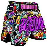 Pantalón Muay Thai Kick Boxing Buddha Retro Zippy