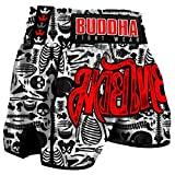 Pantalón Muay Thai Kick Boxing Buddha Retro Skeletor